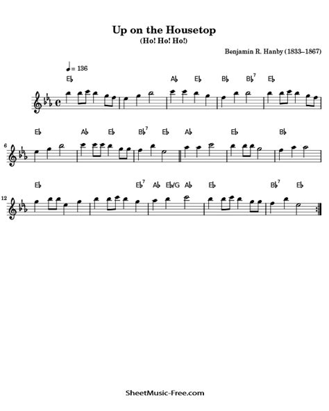 Up On The Housetop For Solo Flute  music sheet