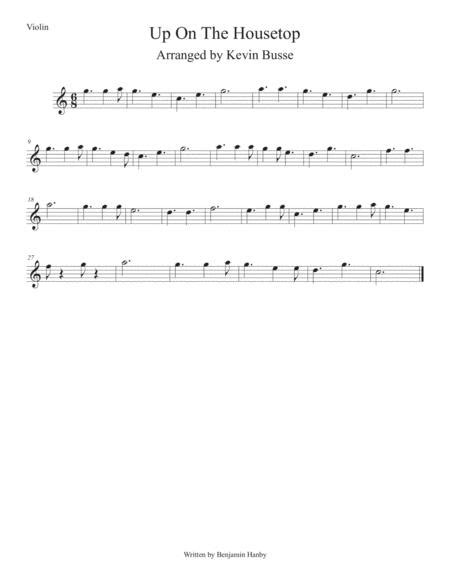 Up On The Housetops Easy Key Of C Violin  music sheet