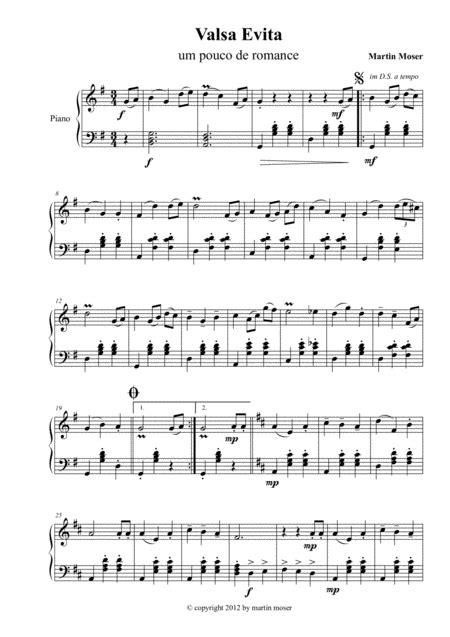 Valsa Evita  music sheet