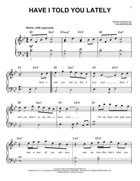 Van Morrison Have I Told You Lately Violin Solo  music sheet