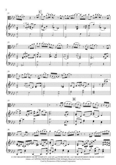 Via Dolorosa Piano Viola Easy  music sheet