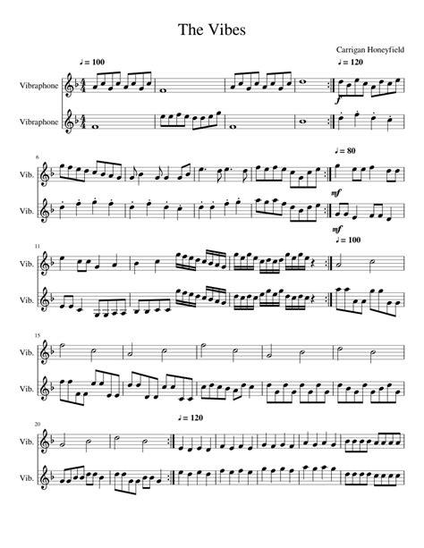 Vibr A Phone For Vibraphone  music sheet