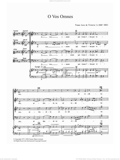 Victoria Responsorium V O Vos Omnes Arr For String Quartet  music sheet
