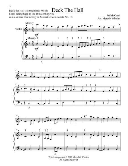 violin christmas carols with piano music sheet