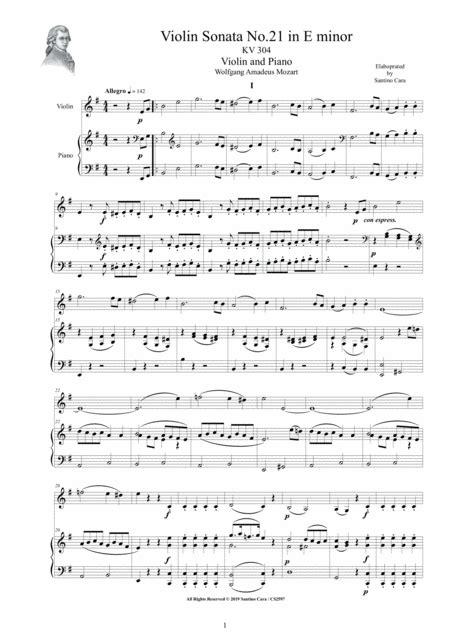 Violin Sonata For Violin And Piano Performance Score Part  music sheet