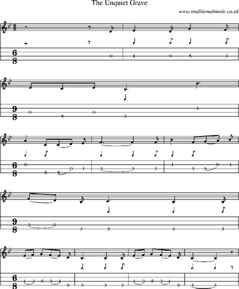 visit to a grave music sheet