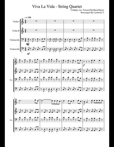 Viva La Vida String Quartet  music sheet