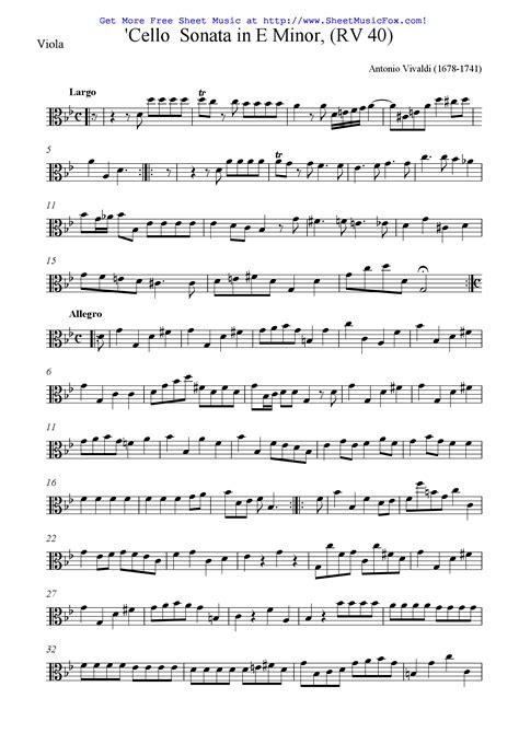 Vivaldi Cello Sonata In E Minor Op 14 Rv 40 From 6 Cello Sonatas Le Clerc  music sheet