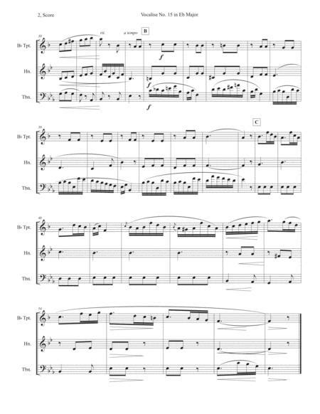 Vocalise No 15 In Eb Major  music sheet