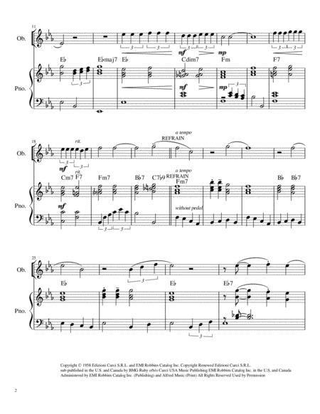 Volare Nel Blu Dipinto Di Blu Oboe Solo Chords Piano Accompaniment  music sheet