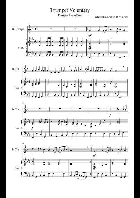 Voluntary 4  music sheet