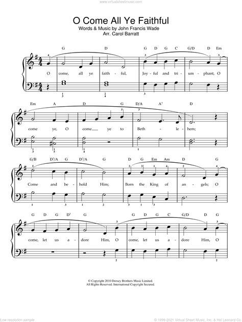 Wade Adeste Fideles O Come All Ye Faithful In G Major For A Cappella  music sheet