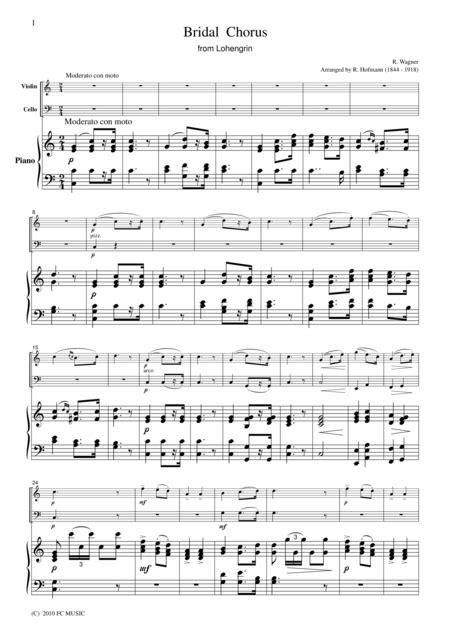 Wagner Bridal Chorus From Lohengrin For Woodwind Quartet  music sheet