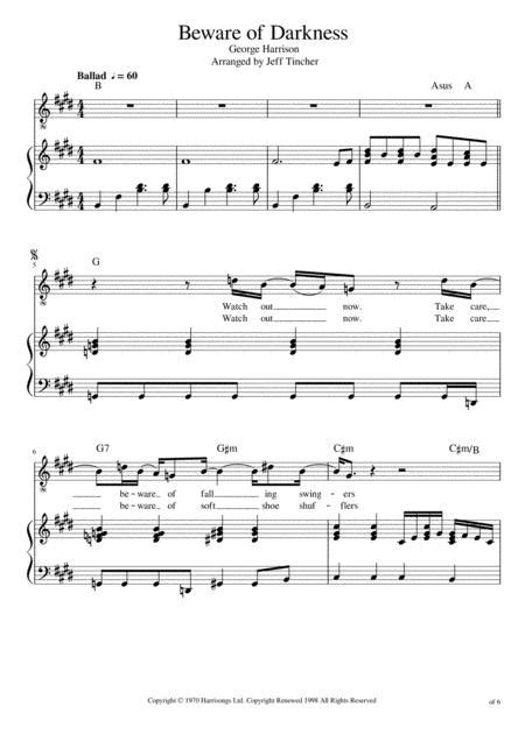 Waking From Darkness  music sheet