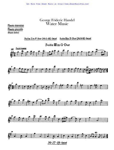 Watermusic  music sheet