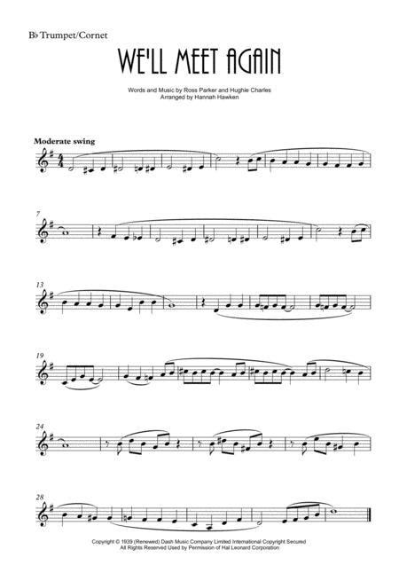 We Will Meet Again Trumpet Cornet And Horn Duet Unaccompanied  music sheet