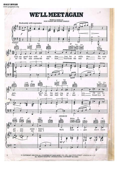 We Will Meet Again Vera Lynn Bassoon Quartet  music sheet