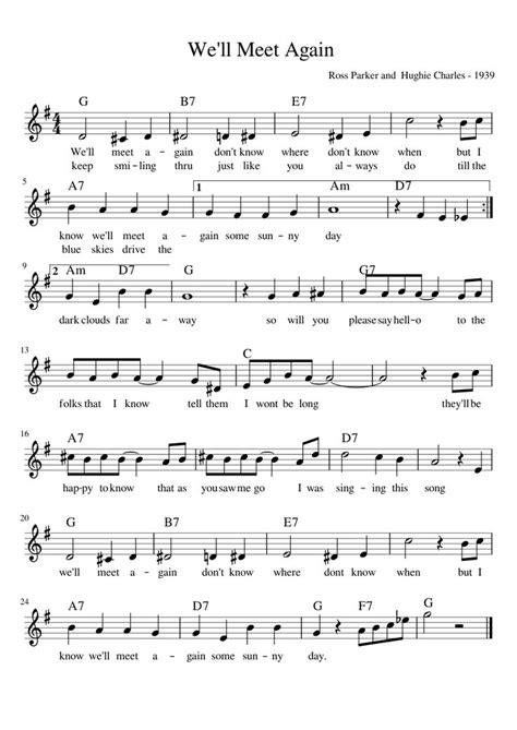 We Will Meet Again Vera Lynn Brass Quartet  music sheet