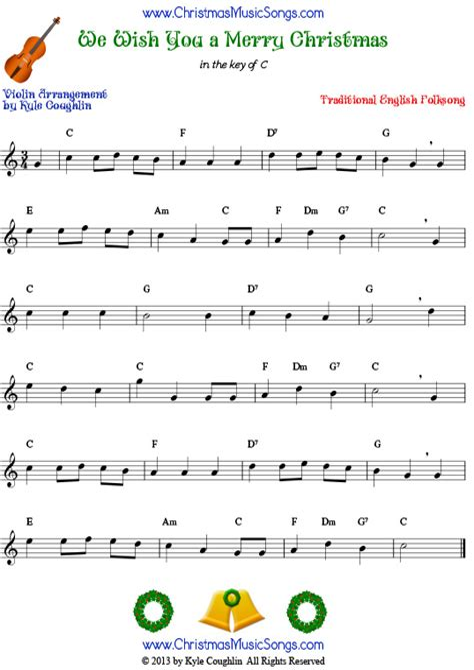 We Wish You A Merry Christmas Easy Key Of C Soprano Sax  music sheet