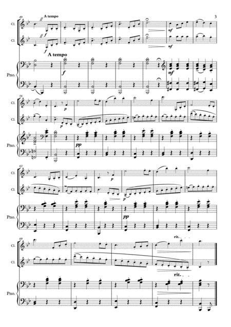 Weber Country Dance Clarinet Duo 2 Clarinets Clarinet Group Piano  music sheet