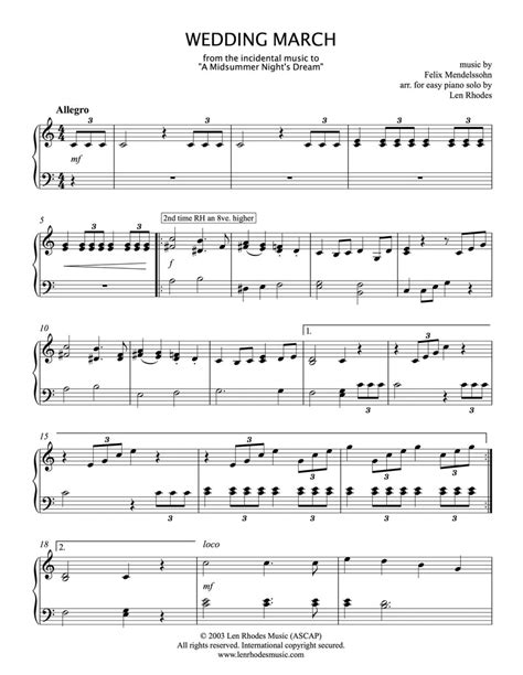 Wedding Or Occasional March For Organ Or Piano Keyboard  music sheet