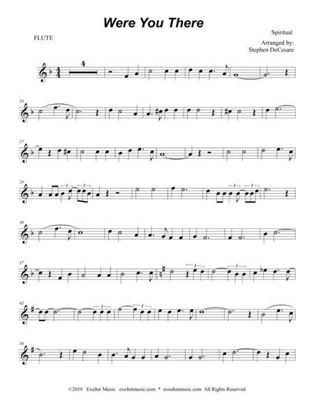 Were You There Duet For Flute And Bb Clarinet  music sheet