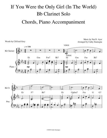 Were You There Piano Accompaniment For Bb Clarinet  music sheet