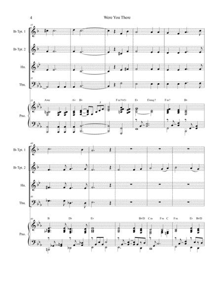 Were You There With When I Survey The Wondrous Cross For String Quartet  music sheet