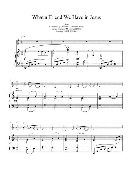 What A Friend We Have In Jesus V2 Orchestra Accompaniment For Piano Solo  music sheet
