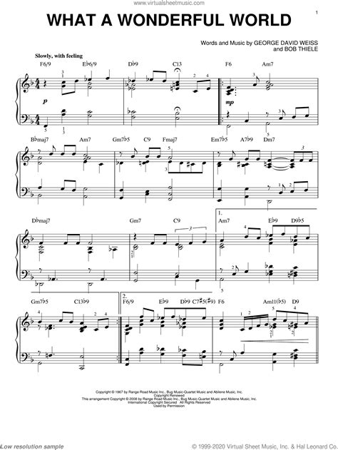 what a wonderful world duet for c instruments music sheet