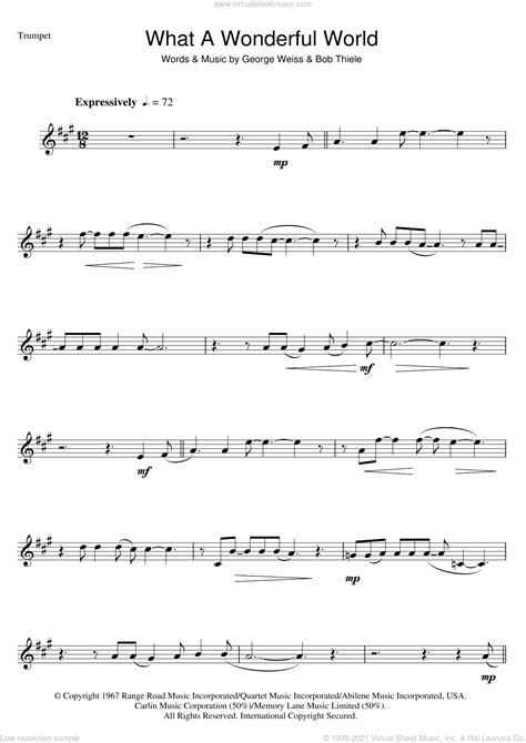 What A Wonderful World For Rock Band With Horns  music sheet