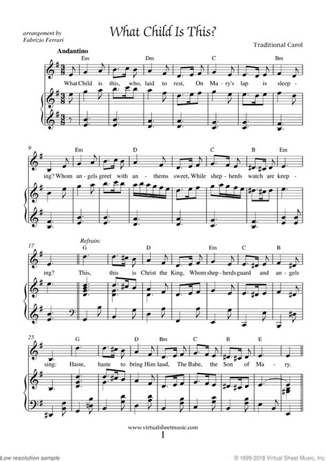 What Child Is This Piano Accompaniment For Bassoon  music sheet