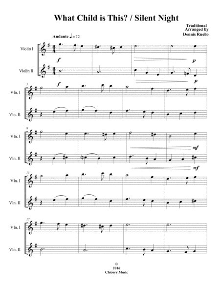 What Child Is This Silent Night 2016 Holiday Contest Entry Trumpet Duet  music sheet