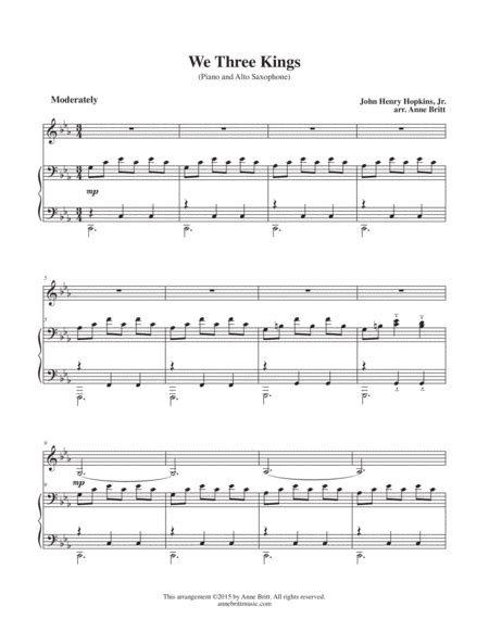 What Child Is This With We Three Kings For Saxophone Quartet  music sheet