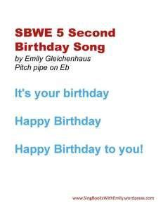 What To Sing For Someones Eighty First Birthday  music sheet