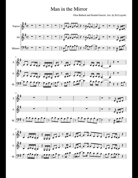 When I Look In The Mirror  music sheet