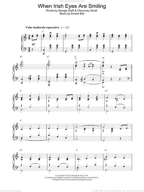 When Irish Eyes Are Smiling Duet For C Instruments  music sheet