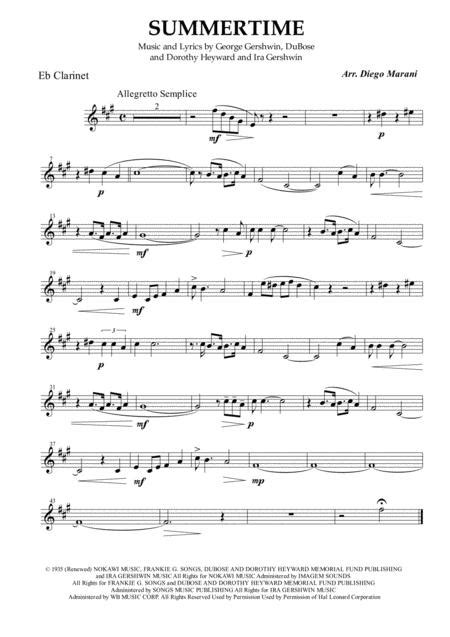 When Spring Comes Calling For Clarinet Quartet  music sheet