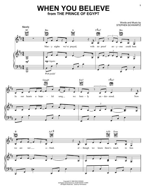When You Believe From The Prince Of Egypt Duet For Bb Trumpet And French Horn  music sheet
