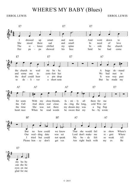 Wheres My Baby  music sheet