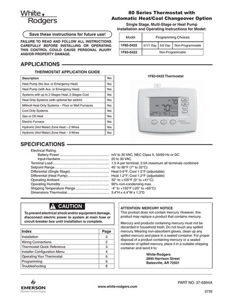 free download ebooks White Rodgers Thermostat Manual 1f80 361.pdf