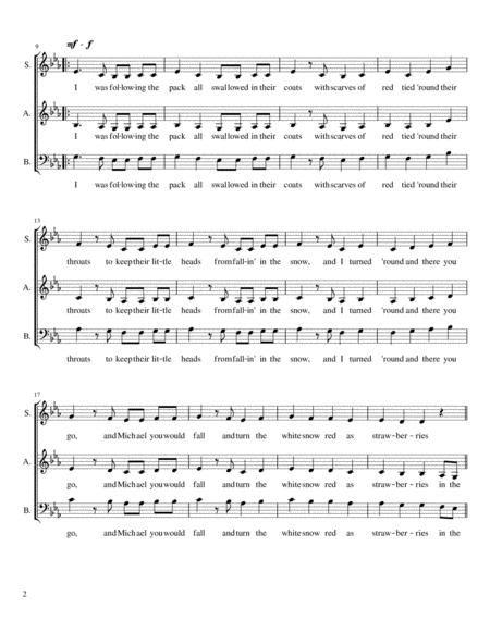 White Winter Hymnal Sab A Cappella  music sheet