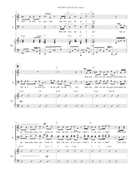 Who Will Love Me As I Am From Side Show Ttbb Piano  music sheet
