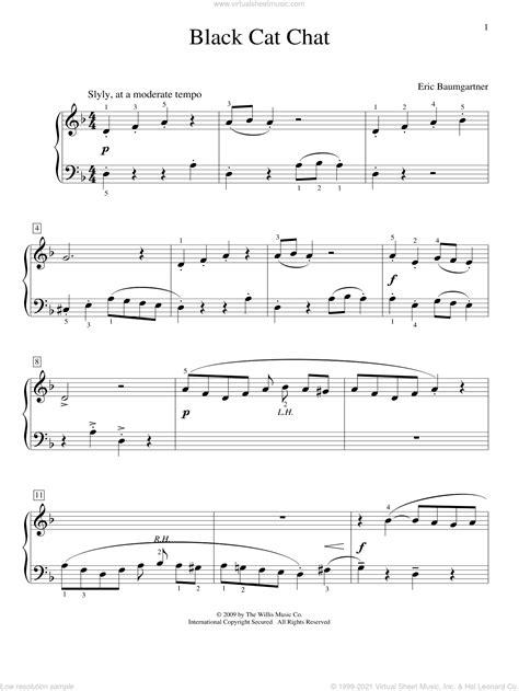 Whos That Black Cat  music sheet
