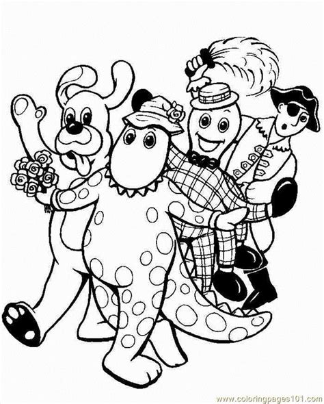 wiggles Coloring Pages ColoringBookFun