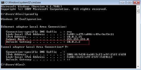 windows Does Default Gateway IP Router IP Server Fault