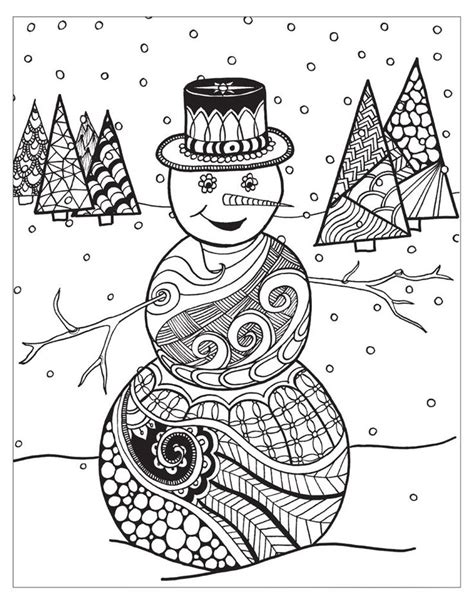 winter themed Christmas card Christmas Coloring Pages
