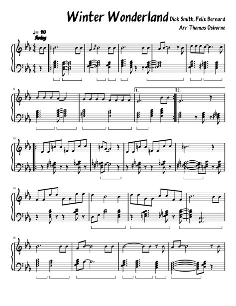 Winter Thoughts  music sheet