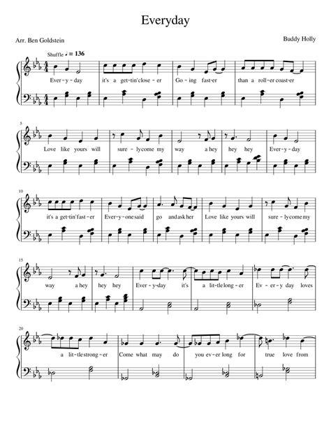 Work Everyday  music sheet