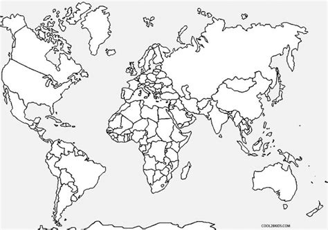 world map coloring page with labels Coloring Pages Page